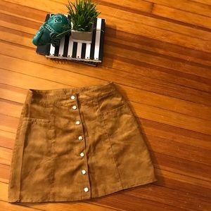 Chestnut Buttoned Skirt